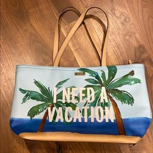 Kate spade I need a vacation tote